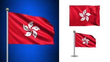 Hongkong flag - with Alpha channel, seamless loop!