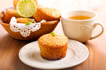 lime and white chocolate chip cakes