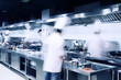 modern hotel kitchen and busy chefs. - 81769140