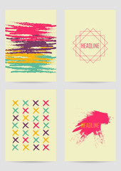 Set of creative ink cards