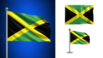Jamaica flag - with Alpha channel, seamless loop!
