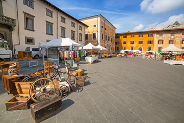 Streets of Pisa with traditional architecture, Italy