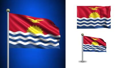 Kiribati flag - with Alpha channel, seamless loop!