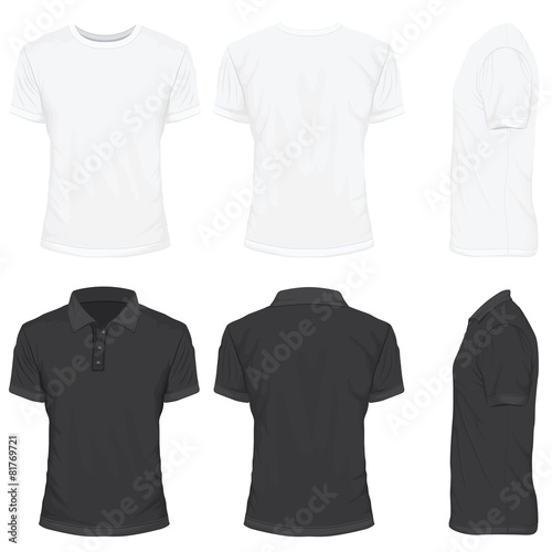 T-Shirt in White and Black Color - 81769721