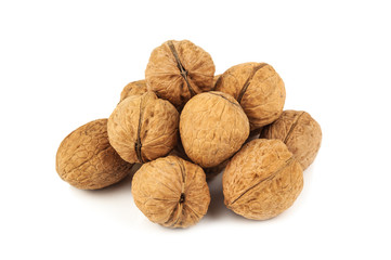 heap of ripe walnuts
