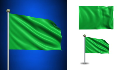 Libya flag - with Alpha channel, seamless loop!