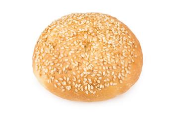 Appetizing bun sprinkled with sesame seeds