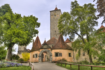 Tower of Rothenburg ob der Tauber, Germany