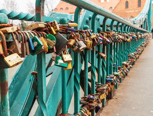 rusty love padlocks