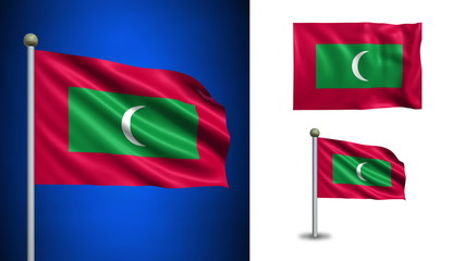 Maldives flag - with Alpha channel, seamless loop!