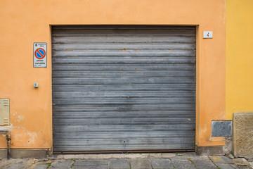 Saracinesca garage, grigio zincato,