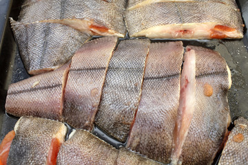 Cooking of flounder fish