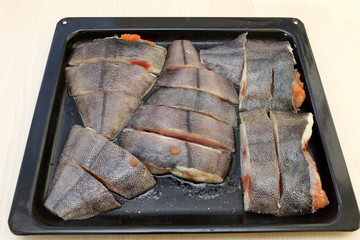 Fish on a tray