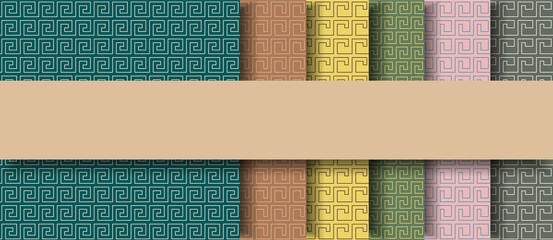 Ancient egyptian seamless backgrounds, vector illustration