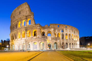 Colosseum the landmark of Rome, Italy.