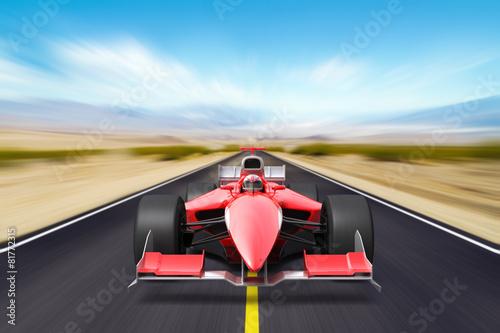 Naklejka Formula race red car