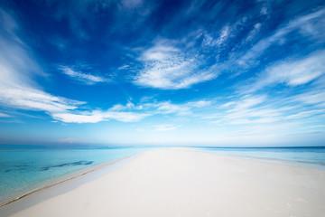einsame Strandzunge