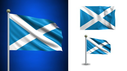 Scotland flag - with Alpha channel, seamless loop!