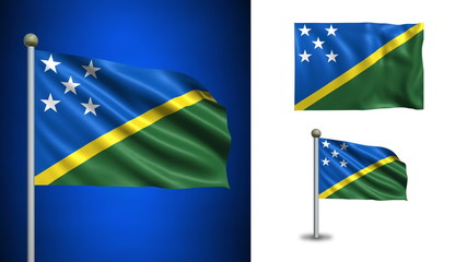 Solomon Islands flag - with Alpha channel, seamless loop!