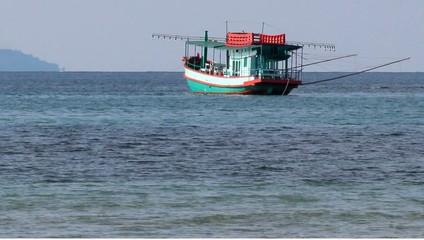 Asian fishing boat at sea