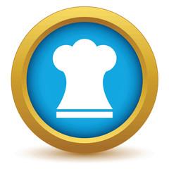 Gold chef hat icon