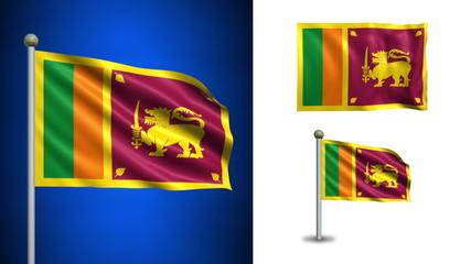 Sri Lanka flag - with Alpha channel, seamless loop!
