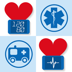 Set of icons for medicine - vector illustration