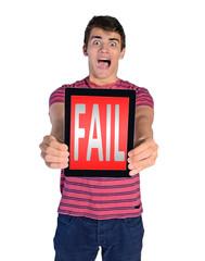 young man fail