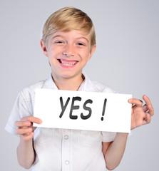 little boy choose yes