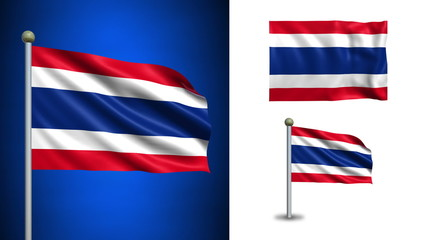 Thailand flag - with Alpha channel, seamless loop!