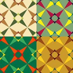 Set color of seamless geometric pattern