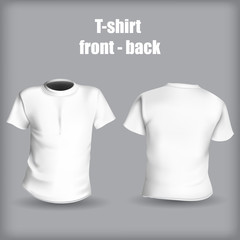 Shirt front and back on a gray background stylish