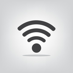 Wi fi icon on a gray background vector