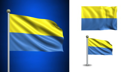 Ukraine flag - with Alpha channel, seamless loop!