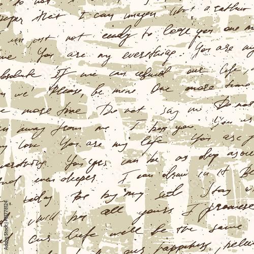 Hand drawn old letter grunge background © memoru