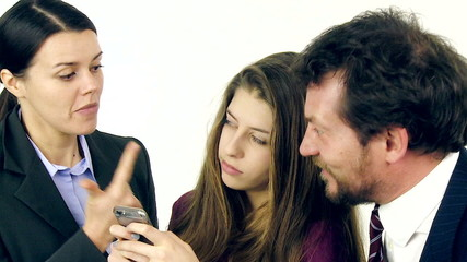 Parents furious with daughter addicted to cell phone slow motion