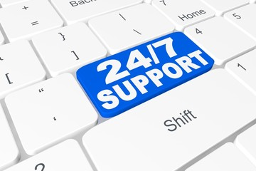 "Button ""24/7 Support"" on keyboard"