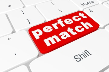 "Button ""perfect match"" on keyboard"
