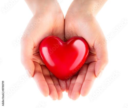 Zdjęcia na płótnie, fototapety, obrazy : heart in hands - donation of love