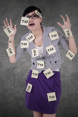 Female manager with tax reminders