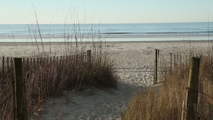Winter beach retreat