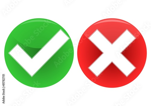 """""""Check mark and x icon - Illustration"""" Stock image and ... X And Check Icon"""