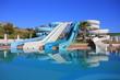 canvas print picture - Aquapark slides