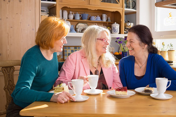 Adult Female Friends Having Snacks at the Table.