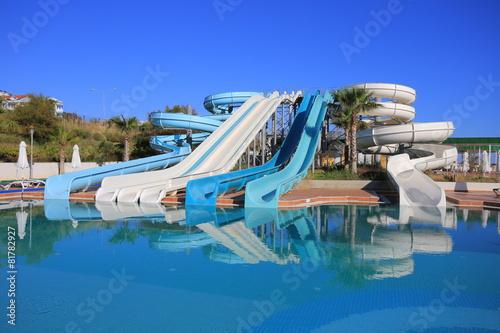 canvas print picture Aquapark slides