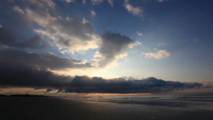 Cloudy sunrise on Cherry Grove Beach, South Carolina