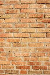 Red brick masonry wall