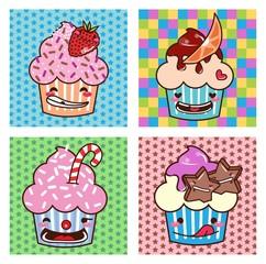 Desenho Cupcake kawaii Set 08