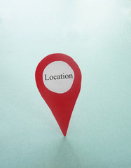 Red locator point