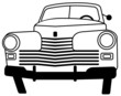Outline image of a vintage car